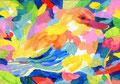 """""""カモ"""" acrylic on paper 15.8×22.7cm,2016"""