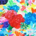 """""""5月の花束"""" acrylic on canvas 22.7×22.7cm,2010"""