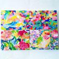 """untitled"" acrylic on canvas ,panel 15.8×22.7cm,2016×4点"