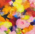 """""""ツバメ"""" acrylic on canvas 22.7×22.7cm,2016"""