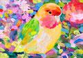 """untitled"" acrylic on panel 15.8×22.7cm,2016"