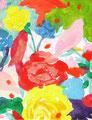 """""""アトリエがけと花"""" acrylic on canvas 14.0×18.0cm,2008"""