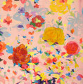 """""""ピンクの花""""  acrylic on canvas 116.7×116.7cm,2009"""