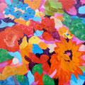 """""""ダンデライオン"""" acrylic on canvas 22.7×22.7cm,2009"""
