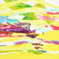 """""""鳶と鷹の地図"""" acrylic on canvas 45.0×45.0cm,2011"""