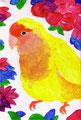 """""""コザクラインコ""""acrylic on canvas,2009"""