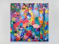 """""""いつか忘れる日曜日""""  acrylic on panel 162×162cm,2011"""