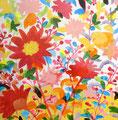 """""""草のアーチ"""" acrylic on canvas 45.5×45.5cm,2008"""