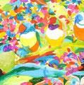 """""""春の夏""""   acrylic on canvas 53.0×53.0cm,2009"""