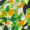 """""""緑の丘""""  acrylic on canvas 116.7×116.7cm,2008"""