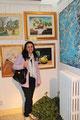 """Io ed il mio dipinto """"Le ciliegie e la Farfala"""""""