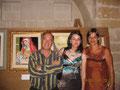 Prof. Santoiemma, Lucia e la madrina della serata la sig.ra Claudia Pavone
