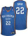 Баскетбольная майка НБА свингмен REV30 OKC №22 ГРИН ДЖЕФФ цена 2499 руб.