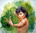 Arasa´ein Guarani-Indio, Argentinien,40x50cm,(c)D.Saul 2011,Portrait