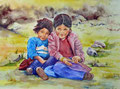 Kinder in Peru, 40x50cm,(c)D.Saul 2012
