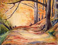 Weiltalweg 60x80cm, (c)D.Saul 2011,Herbst-Wald