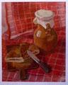Stiellleben mit Milchkrug, Gouache auf Papier, 38x48