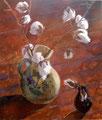 Krug mit Baumwolle, Gouache auf Papier, 49x57