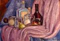 Flaschen, Öl auf Leinkarton, 50x35