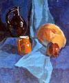 Stillleben mit Kürbis, Öl auf Leinwand, 50x60