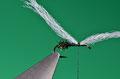 fissare un ciuffo di polipropilene bianco