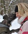 Ein Küssi im Schnee.