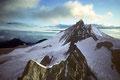 Zinalrothorn 4221 m und Weisshorn 4505 m von der Wellenkuppe 3903 m