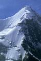 Obergabelhorn 4063 m von  der Cabane du Mountet 2886 m -Tele -