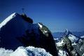 Gipfelkreuz mit Matterhorn 4478 m
