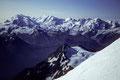 Bergpanorama Monte Rosa bis Klein Matterhorn