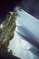 """Obergabelhorn 4063 m mit im Gipfelbereich sichtbarer """"Gabel"""""""