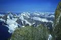 Dent Blanche  4357m,  Grand Combin  4314m,  Mont Blanc 4807m