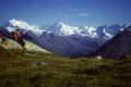 Bergpanorama Monte Rosa bis Breithorn