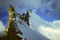 Grand Gendarm ( Kluckerturm ) 3870 m mit Obergabelhorn 4063 m - Nordwand -