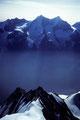 Mischabel-Bergkette im Gegenlicht