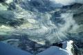 Tiefblick auf Mountet- und Zinalgletscher mit Coeurgrat