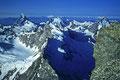 Matterhorn 44478m,  Dent d´Herens 4171m,  Dent Blanche 4357m