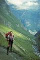 Aufstieg von Zermatt 1616 m zur Rothornhütte 3198 m