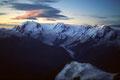 Monte Rosa bis Breithorn im Morgenlicht