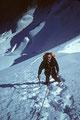 Prof. Dr. Walter Krischke beim Abstieg vom Gipfel - in memoriam - +1983 +
