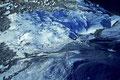 Gletscherbecken mit Moränen vom Gipfel
