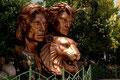 Siegfried&Roy  zu Lebzeiten bereits in Bronce