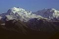 Monte Rosa 4634m  mit Liskamm