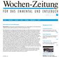Bericht über Marc Hauser, Redner am Gewerbe-Apéro der Gemeinde Oberdiessbach