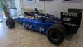 La JS27 de Ligier avec moteur Renault V6 turbo et pneus Pirelli (Michelin avait équipé Ligier de 1979 à 1982)