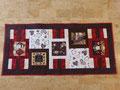 Tischläufer (110x50 cm) in weinrot-creme-braun (türkis-apfelgrün-braun wäre auch möglich)...