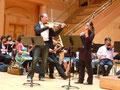 Metz salle de l'Arsenal 2010  Alissa Margulis violon, Pierre Lenert alto, Orchestre National de Lorraine dans la magnifique symphonie concertante de W.A. Mozart