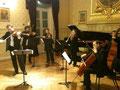 Théâtre du Châtelet 2010 Pierre Lenert, Quatuor Psophos, Pauline Lazayres contrebasse, Jeff Cohen piano