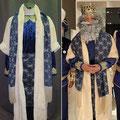 Diseño de vestuario de Rey Melchor para Alejandro Sanz. Cabalgata de Cádiz, 5 Enero 2020.