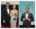 Javier Mora de PACO VARELA fue el encargado de presentar la gala de apertura del 41 Festival de Cine Iberoamericano de Huelva. 14 Noviembre 2015.
